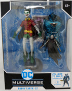 DC Multiverse Dark Nights Metal 7 Inch Action Figure BAF The Merciless - Robin Crow Earth-22 (Grinning Closed Mouth)