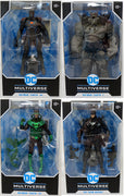 DC Multiverse Dark Nights Metal 7 Inch Action Figure Comic Series - Set of 4 (Grim Knight - Batman Earth #1-#32-#44)