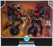 DC Multiverse DC Comics 7 Inch Action Figure 2-Pack Exclusive - Nightwing & Red Hood