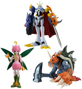 Digimon Adventure Shokugan 3 Inch Action Figure Shodo - Set of 3 (Omegamon - Lillymon - Zudomon)