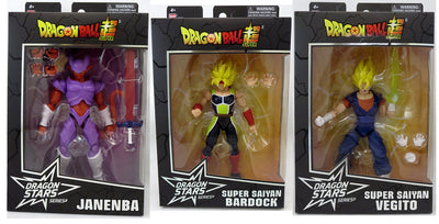 Dragonball Super 6 Inch Action Figure Dragon Stars Series 17 - Set of 3 (Janemba - SS Bardock - SS Vegito)