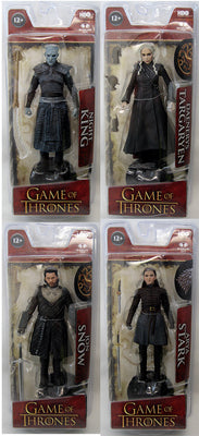 Game Of Thrones 6 Inch Action Figure Series 1 - Set of 4 (Arya - Jon - Daenerys - Night King)