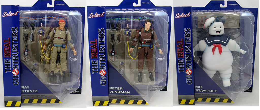 Ghostbusters Select 7 Inch Action Figure Series 10 - Set of 3 (Peter - Ray - Stay Puft)