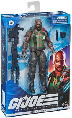 G.I. Joe Classified 6 Inch Action Figure Series 3 - Roadblock Black Gun #01 (Repaint Version)