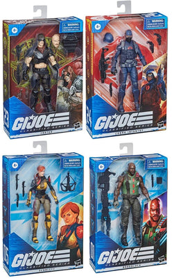 G.I. Joe Classified 6 Inch Action Figure Series 3 - Set of 4 (Zartan - Infantry - Scarlett V2 - Roadblock V2)