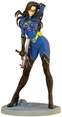 G.I. Joe 25th Anniversary 10 Inch Statue Figure Bishoujo Limited Edition - Baroness Blue Suit