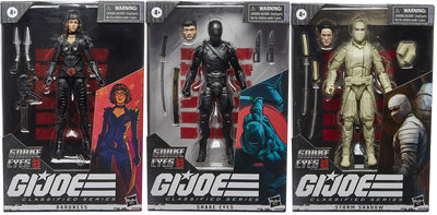G.I. Joe Origins Movie 6 Inch Action Figure Classified Series 1 - Set of 3 (Storm Shadow - Snake Eyes - Baroness)