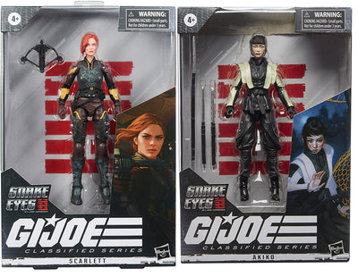 G.I. Joe Origins Movie 6 Inch Action Figure Classified Series 2 - Set of 2 (Scarlett - Akiko)