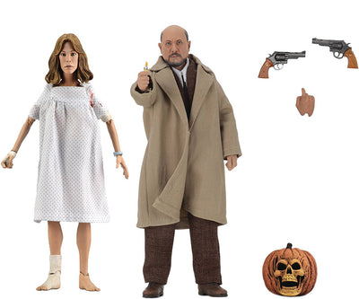 Halloween 2 8 Inch Action Figure Retro Clothed Series - Doctor Loomis and Laurie Strode