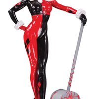 Harley Quinn Red White And Black 7 Inch Statue Figure - Harley Quinn by Adam Hughes
