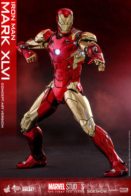Iron Man 12 Inch Action Figure 1/6 Scale Series - Iron Man Mark Diecast XLVI Concept Art Version Hot Toys 903749