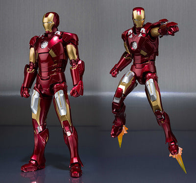 Iron Man 6 Inch Action Figure S.H. Figuarts - Iron Man Mark VII Hall Of Armor