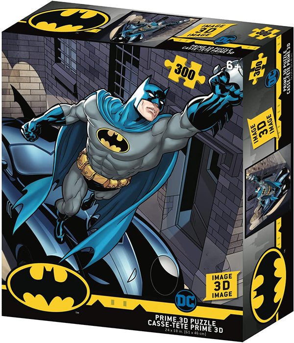 Jigsaw 3D Puzzle DC Comics 24 Inch by 18 Inch Puzzle 300 Piece - Batman & Batmobile