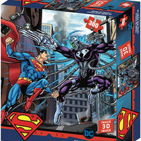 Jigsaw 3D Puzzle DC Comics 24 Inch by 18 Inch Puzzle 300 Piece - Superman vs Brainiac