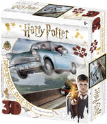 Jigsaw 3D Puzzle Harry Potter 24 Inch by 18 Inch Puzzle 300 Piece - Ford Anglia, Ronald Weasley and Harry Potter