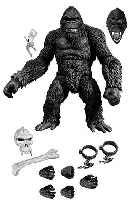 King Kong Skull Island 7 Inch Action Figure PX Exclusive - King Kong Black & White
