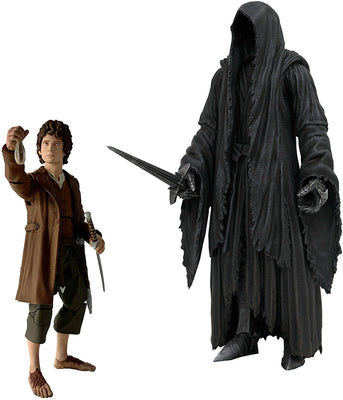 Lord Of The Rings 7 Inch Action Figure BAF Sauron Series 2 - Set of 2 (Frodo - Ringwraith)