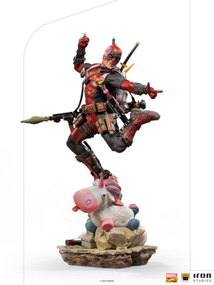 Marvel 1:10 Art Scale Series X-Men 10 Inch Statue Figure Battle Diorama - Deadpool Deluxe Iron Studios 906738
