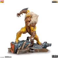Marvel Collectible Battle Diorama 8 Inch Statue Figure 1:10 Art Scale - Sabretooth Iron Studios 906542