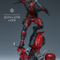 Marvel Collectible Deadpool 20 Inch Statue Figure Premium Format - Deadpool Sideshow 300690