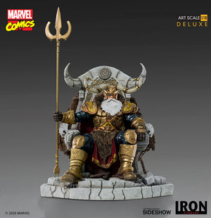 Marvel Collectible 12 Inch Statue Figure Thor - Odin Deluxe Iron Studios 906017