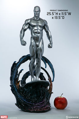Marvel Comics Collectible Maquette 25 Inch Statue Figure - Silver Surfer Sideshow 400358