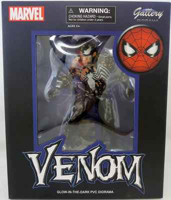 Marvel Gallery Spider-Man 9 Inch Statue Figure Exclusive - Glow In Dark Venom