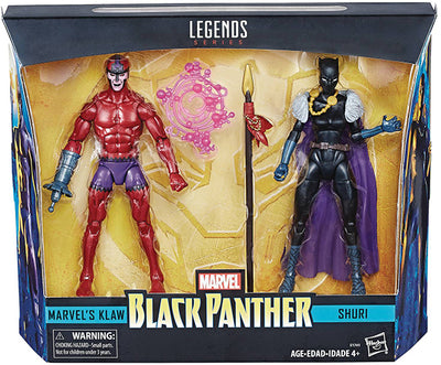Marvel Legends 6 Inch Action Figure 2-Pack Series - Klaw vs Shuri
