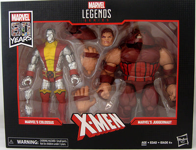 Marvel Legends 7 Inch Action Figure 80 Years Anniversary - Colossus VS Juggernaut (Shelf Wear Packaging)
