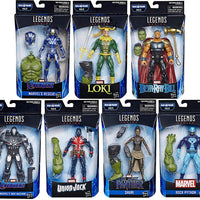 Marvel Legends Avengers Endgame 6 Inch Action Figure Hulk Series - Set of 7 (Build-A-Figure Hulk)