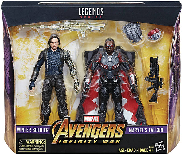 Marvel Legends 6 Inch Action FIgure Avengers Infinity War - Winter Solider & Falcon