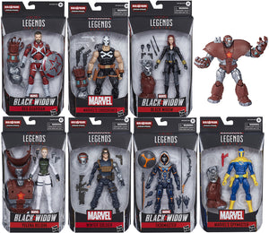 Marvel Legends Black Widow 6 Inch Action Figure Crimson Dynamo Series - Set of 7