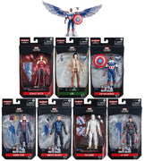 Marvel Legends Captain America 6 Inch Action Figure BAF Flight Gear - Set of 7 (Build-A-Figure Flight Gear)