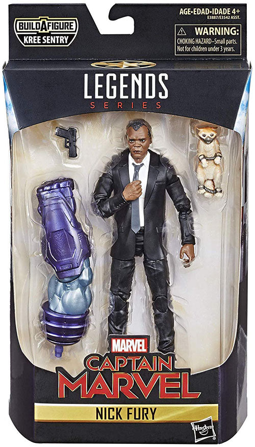 Marvel Legends Captain Marvel 6 Inch Action Figure Kree Sentry Series - Nick Fury