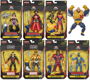 Marvel Legends Deadpool 6 Inch Action Figure BAF Strong Guy Series - Set of 7