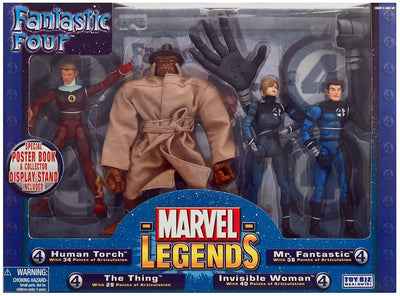 Marvel Legends Fantastic Four 6 Inch Action Figure Box Set - Fantastic Four 4-Pack Exclusive