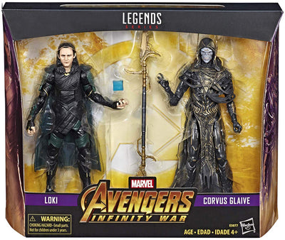 Marvel Legends Infinite 6 Inch Action Figure 2-Pack Series - Loki VS Corvus Glaive Exclusive