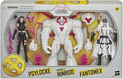 Marvel Legends X-Men 6 Inch Action Figure 3-Pack Series - Psylocke - Nimrod - Fantomex