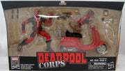 Marvel Legends Infinite 6 Inch Action Figure & Vehicle Set Riders Series - Deadpool Corps with Scooter