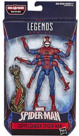 Marvel Legends Spider-Man 6 Inch Action Figure Molten Man Series - Doppelganger Spider-Man