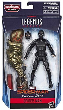 Marvel Legends Spider-Man 6 Inch Action Figure Molten Man Series - Stealth Suit Spider-Man Far From Home