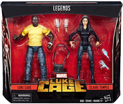 Marvel Legends 6 Inch Action Figure Netflix Series - Luke Cage & Claire Temple (Shelf Wear Packaging)