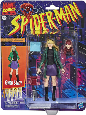 Marvel Legends Retro 6 Inch Action Figure Spider-Man Series 1 - Gwen Stacy