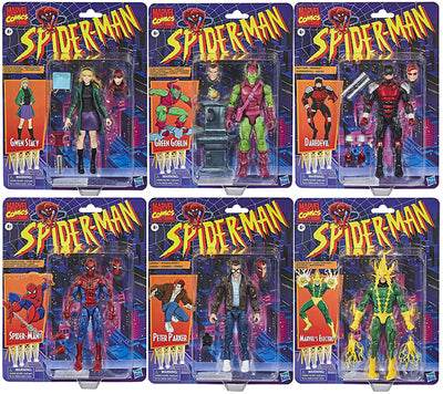 Marvel Legends Retro 6 Inch Action Figure Spider-Man Series 1 - Set of 6