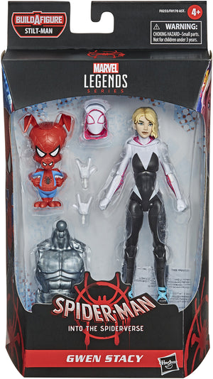 Marvel Legends Spider-Man 6 Inch Action Figure BAF Stilt-Man - Gwen Stacy