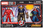 Marvel Legends Studios 6 Inch Action Figure 10th Anniversary Series - Iron Man Mark L - Thanos - Doctor Strange