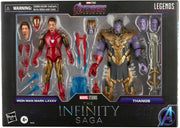 Marvel Legends 6 Inch Action Figure Studios Series 2-Pack - Iron Man Mark 85 vs. Thanos