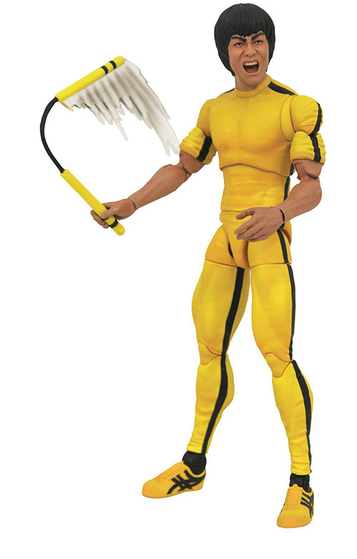 Movie Select 7 Inch Action Figure Bruce Lee - Bruce Lee Yellow Jumpsuit
