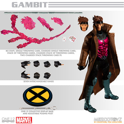 One-12 Collectible 6 Inch Action Figure X-Men Series - Gambit