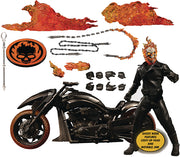 One-12 Collective Marvel Comics 6 Inch Action Figure Deluxe - Ghost Rider & Hell Cycle